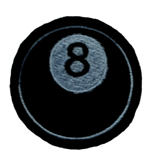 8 Ball Iron On Patch