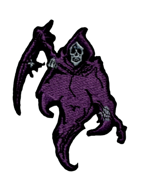 Purple Reaper Iron On Patch
