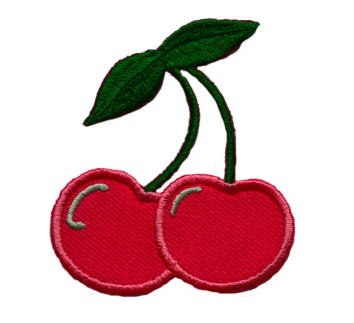 Pink Cherries Iron On Patch