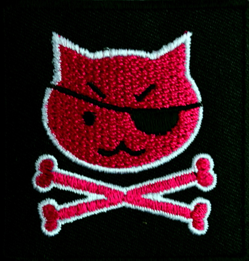 Kitty Pirate Iron On Patch