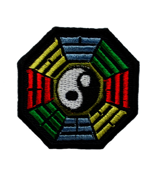 Rasta Octagon Iron On Patch