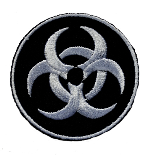 Biohazard Iron On Patch