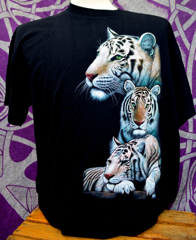 Double Print White Tiger Family T-Shirt