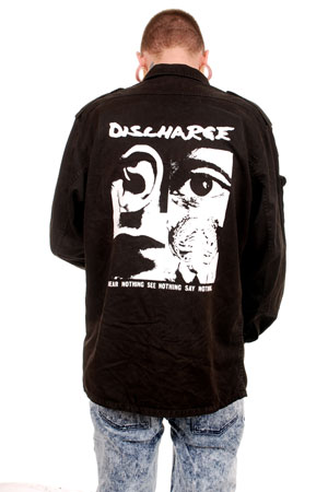 Discharge See Nothing Black Over Dyed Ex Army Flak Jacket