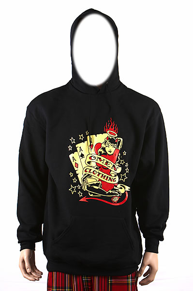 Omen Clothing Vince Ray Cards Mens Hood