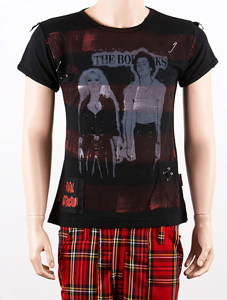Sid and Nancy Mens Distressed Punk Tee