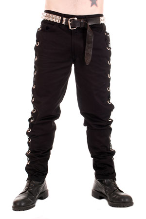 Black Trousers With Side Eyelets