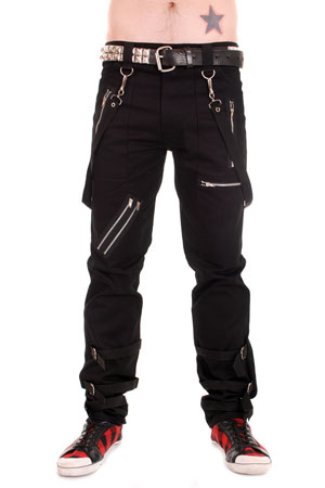 Black Bondage Trousers with Straps.