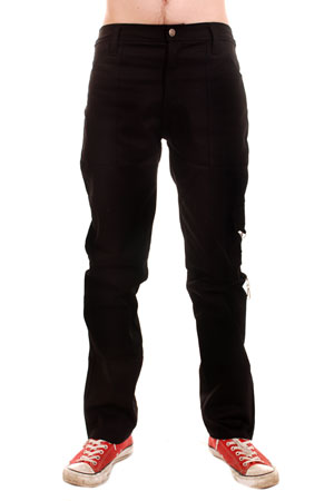 Black Cotton Tiger Work Pants