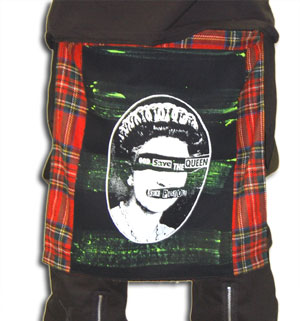 Tartan Bumflap with God Save The Queen