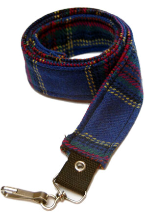 Pair Of Blue Tartan Straps