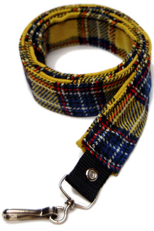 Pair Of Yellow Tartan Straps