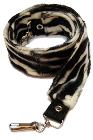 Pair Of Zebra Print Faux Fur Straps