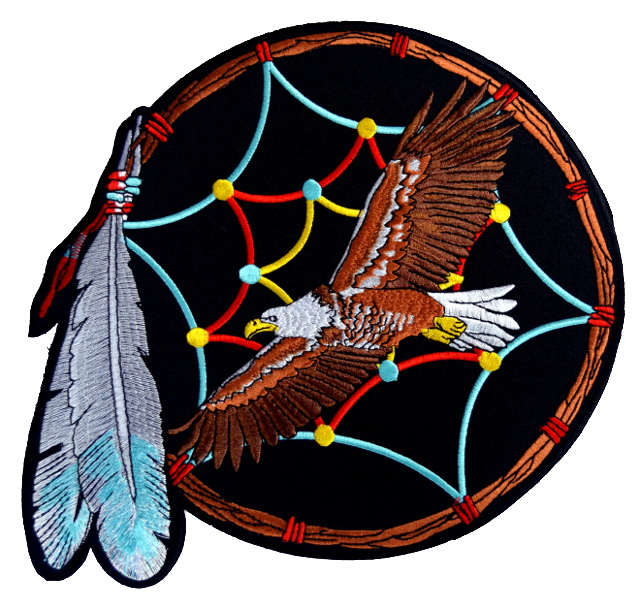 Eagle Dreamcatcher Large Iron On Patch