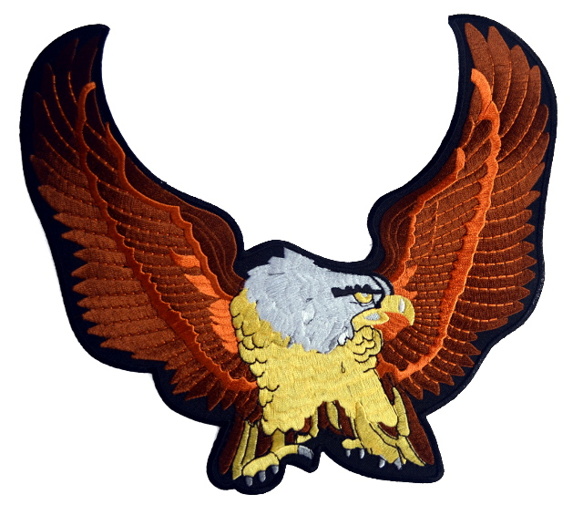 Brown Eagle Large Iron On Patch