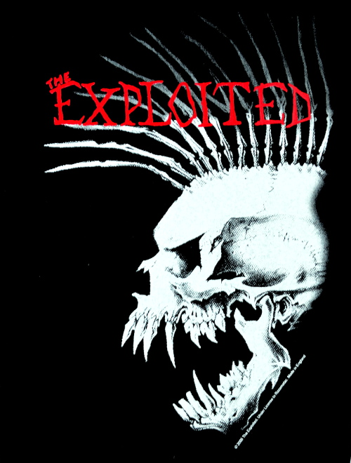 The Exploited Beat The Bastards Design 2 Back Patch
