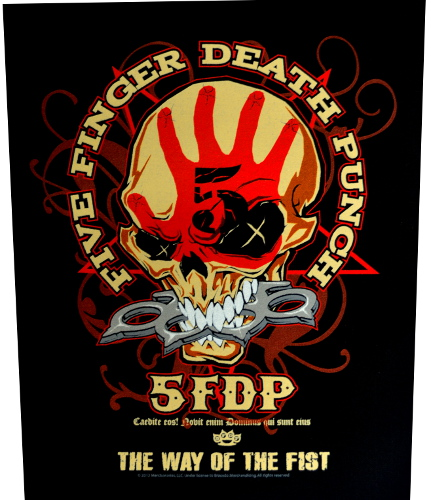 Five Finger Death Punch Way Of The Fist Back Patch