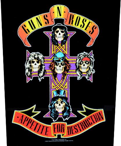 Guns N Roses Appetite For Destruction Back Patch Large Guns N Roses