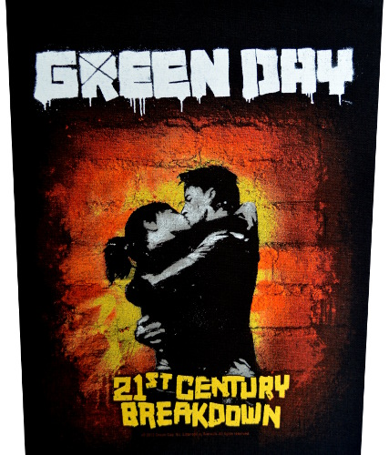 Green Day 21st Century Breakdown Back Patch