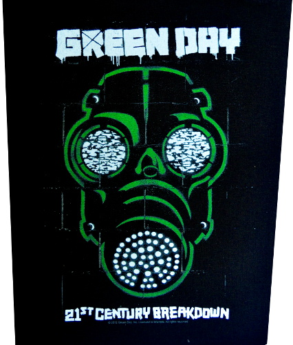 Green Day Gas Mask Back Patch