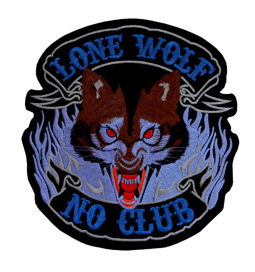 Lone Wolf Large Iron On Patch