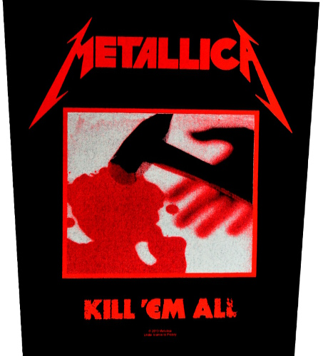 Metallica Kill Em All Back Patch