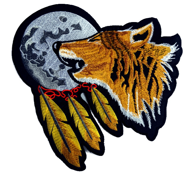 Wolf Large Iron On Patch