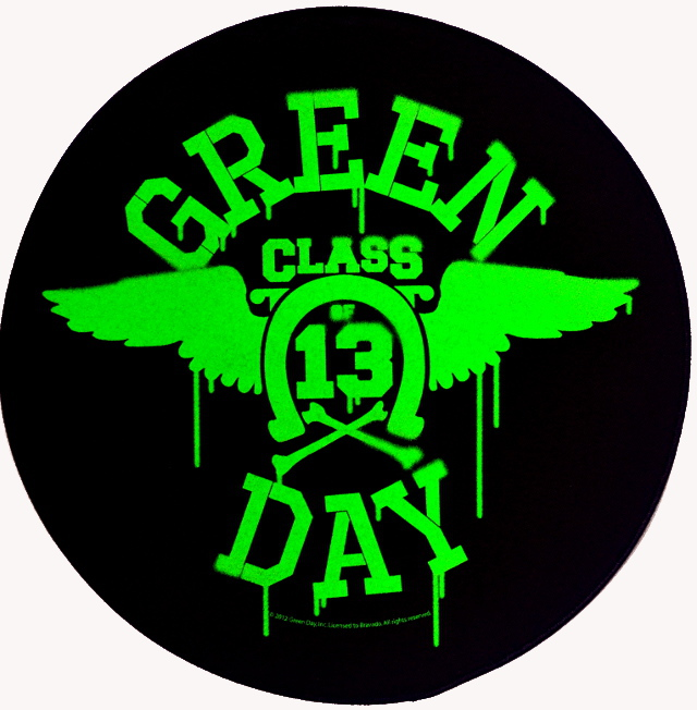 Green Day Neon Wings Back Patch