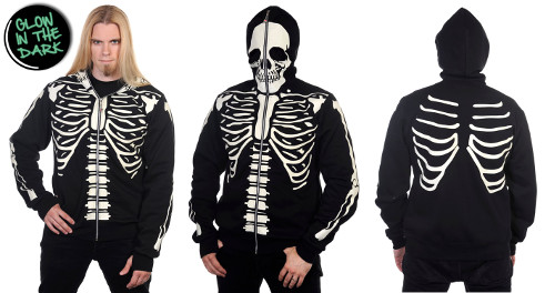 Banned Glow In The Dark Skeleton Hoody
