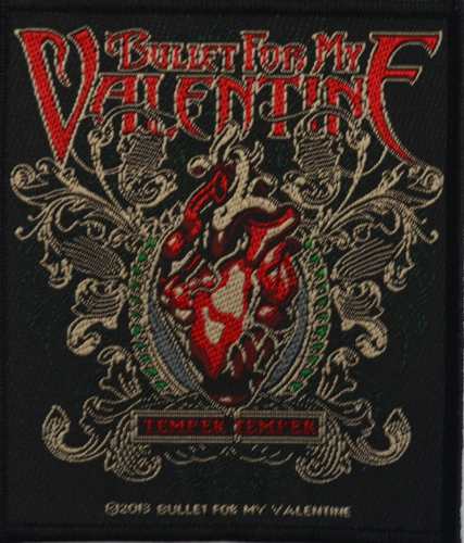 Bullet For My Valentine Temper Temper Patch Official Bullet For My