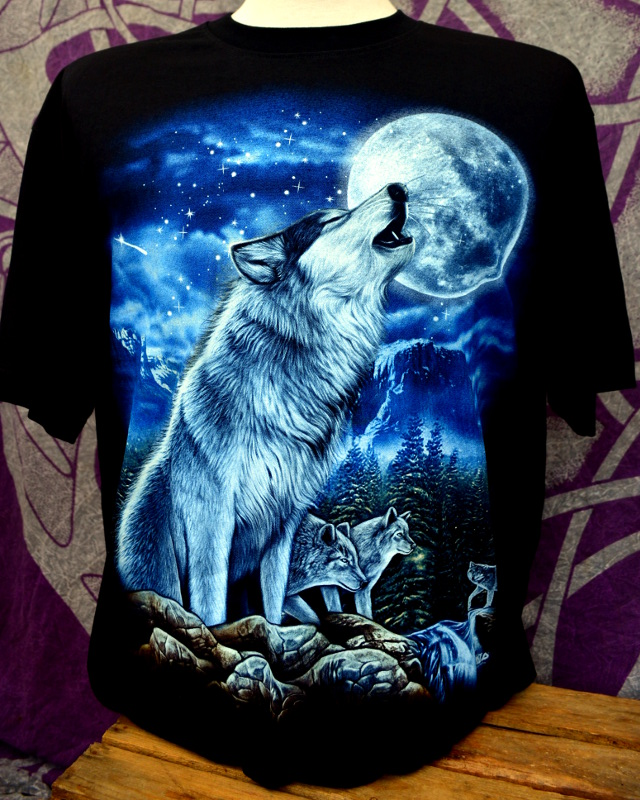 Blue Howling Wolf Pack T-Shirt
