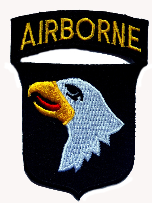 Airborne Iron On Woven Patch
