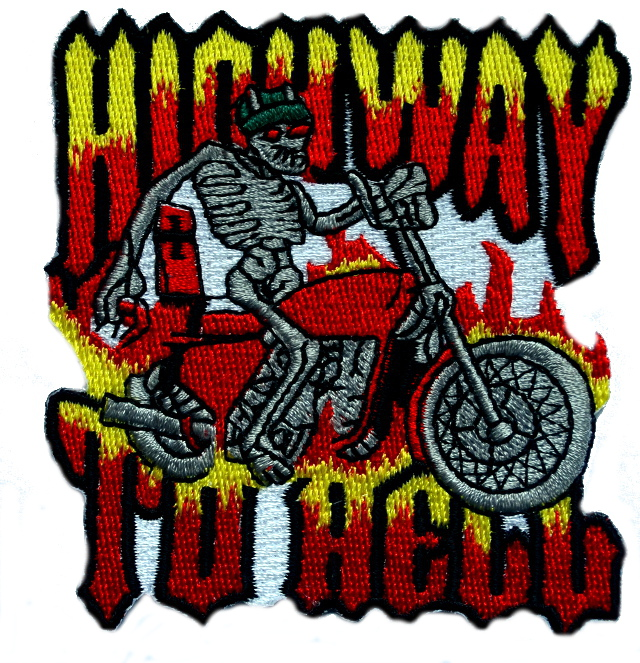 Highway To Hell Iron On Patch