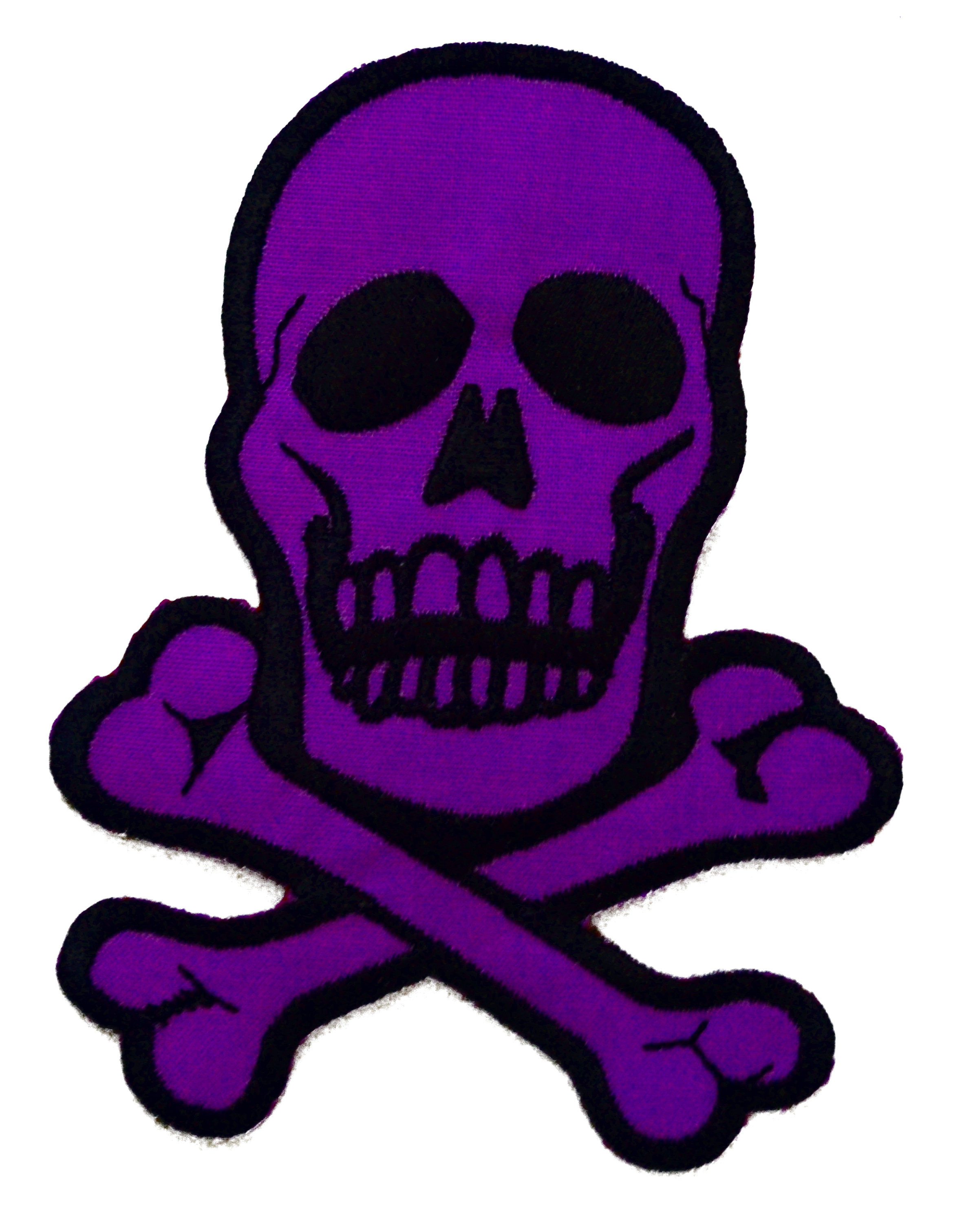 Purple Skull Iron On Patch Design 2 - Click Image to Close