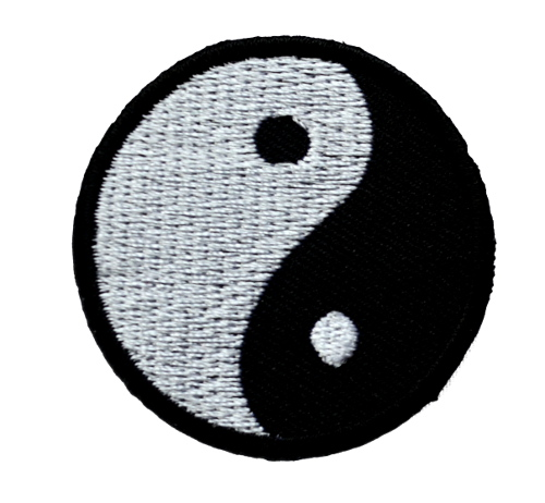 Yin And Yang Iron On Patch
