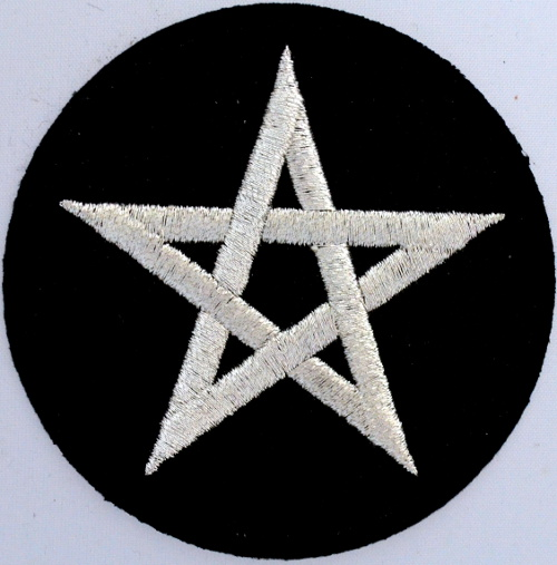Pentagram Iron On Patch