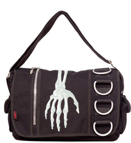 Creepy Hand Messenger Bag - Click Image to Close