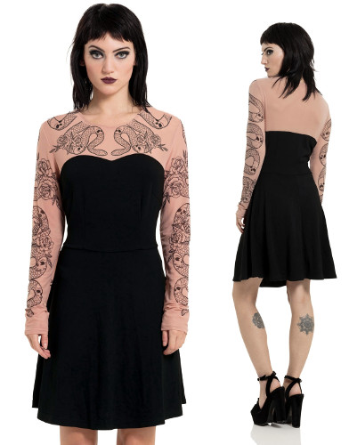 Scared Of Needles Skater Dress