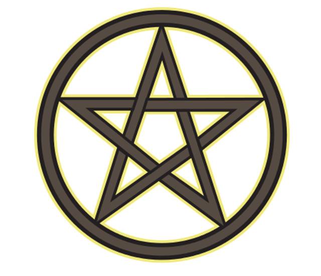 Window Sticker/Decals - Pentagram Circle