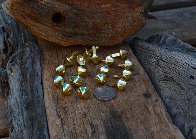 Gold Conical Studs