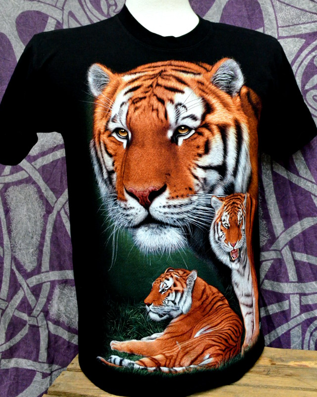 Double Print Tiger with Cub 2 T-Shirt