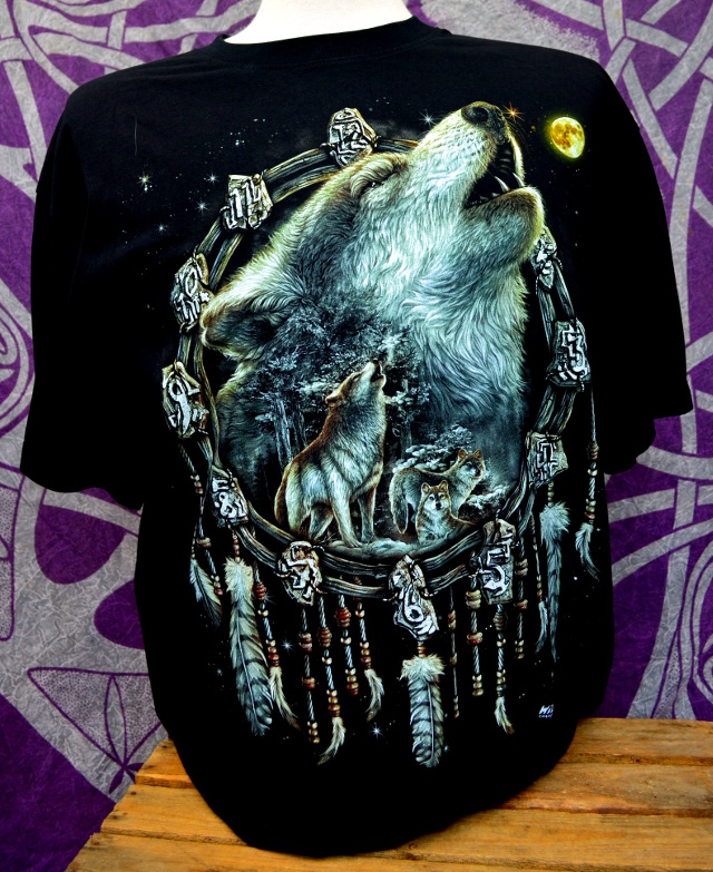 Double Print Dreamcatcher Howling Wolf